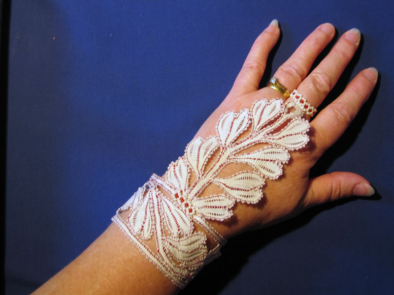 Lace glove by Sue Martin