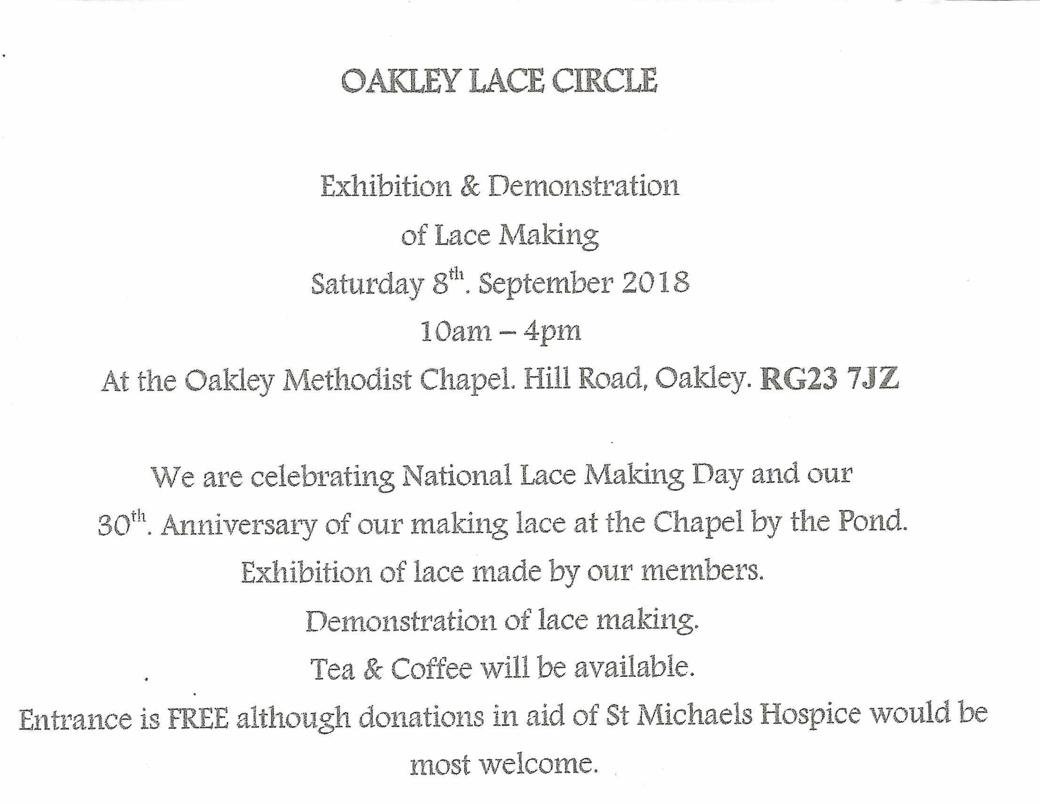 Oakley Lace Circle Notice